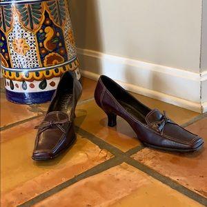 Brown Franco Sarto Loafer Heels